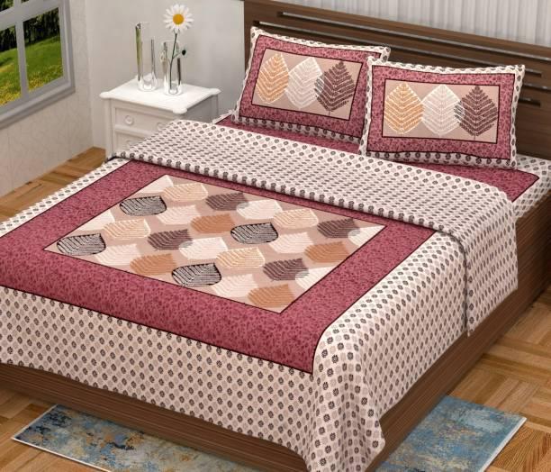 G Craft 300 TC Cotton Double Jaipuri Prints Bedsheet