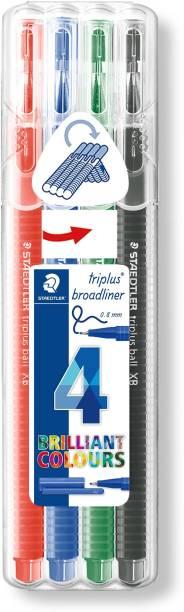 STAEDTLER 338 SB4 Triplus Broadliner(Pack of 4,Multicolor)