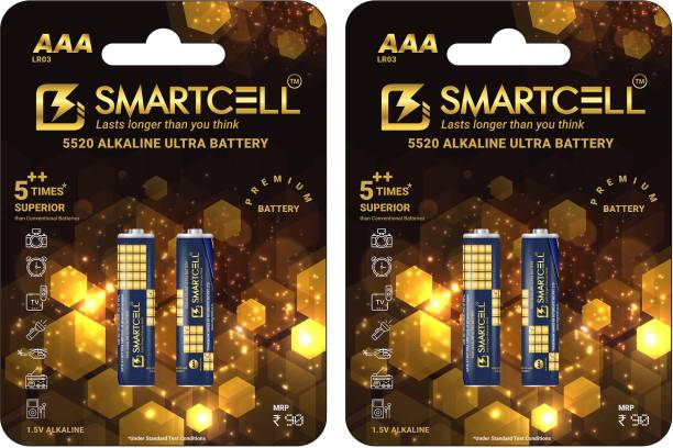 Smartcell 1.5V AAA Non-Rechargeable Alkaline Premium Series  Battery