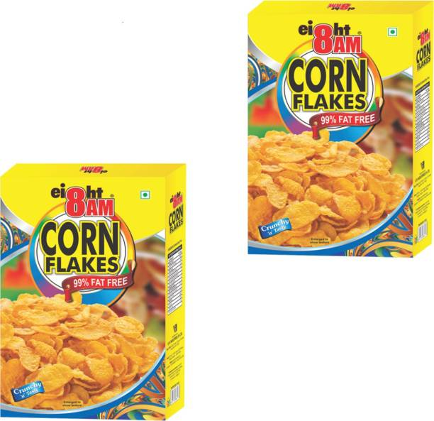 8AM by V. R. Industries (P) Ltd. Cornflakes (Pack of 2)