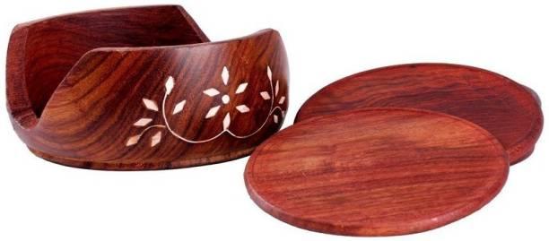 HYMS Round Wood Coaster Set