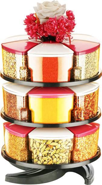Cronus 360° Revolving Spice Rack Masala Rack Spice Box Masala Box Masala Container Condiment set of 18 18 Piece Spice Set
