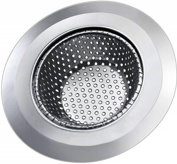 KitchenFest Kitchen Sink, Basin Stainless Steel Push Down Strainer