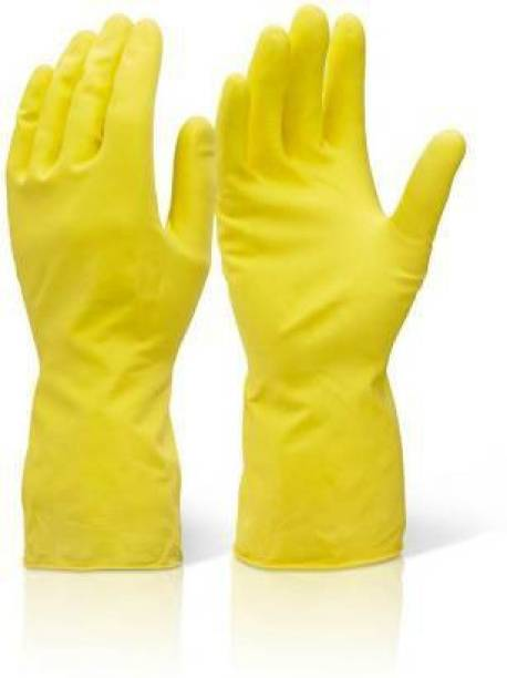 Friends Club 1 Pairs of Reusable Latex Safety Gloves for Washing, Cleaning, Kitchen, Garden and Sanitation For Safety Gardening Shoulder Glove