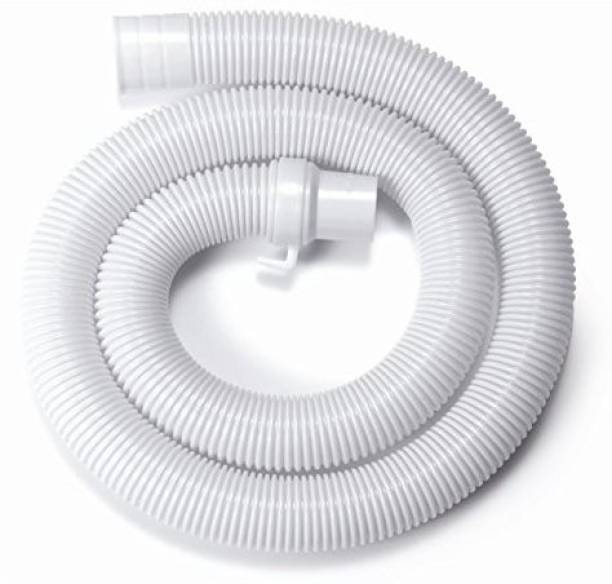 Renon 1.5 Meter Washing machine Outlet pipe Corrugated Plastic Outlet/Drain/Extension Hose Suitable for All Fully/Semi Automatic Washing Machines Outlet (Length: 1.5 Meter, White) Hose Pipe