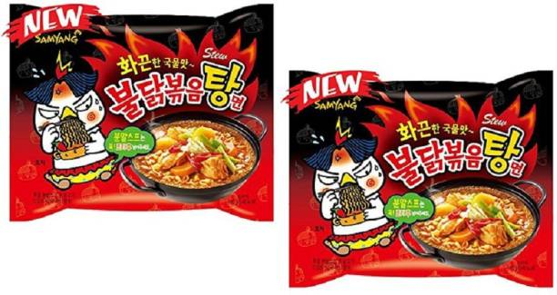 Samyang Stew Type Fire Chicken Buldak-145g (Pack of 2) (Imported) Instant Noodles Non-vegetarian