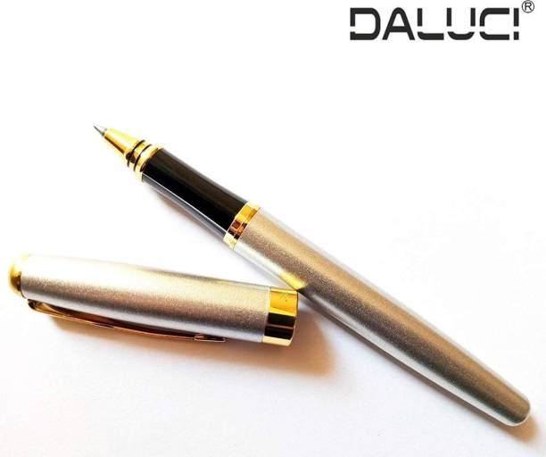 DALUCI Business Metal Roller ball Pen 0.5 mm Nib Gold Clip roller ball Pen office School Supplies Ball Pen
