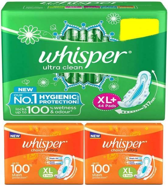 Whisper Ultra Clean XL Plus Wings & Ultra Choice Sanitary Pad