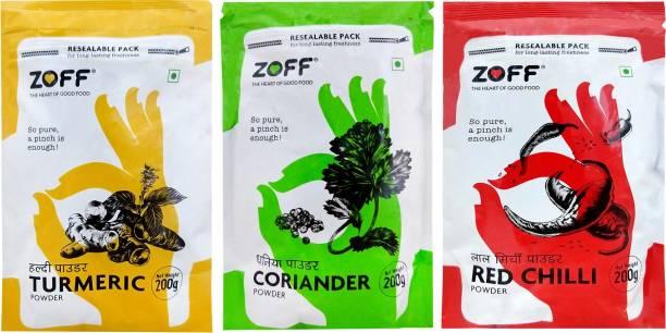 zoff Turmeric, Coriander, Red Chilli Powder Spices Combo