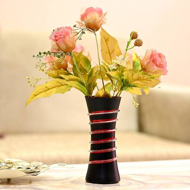 Flipkart Perfect Homes Stylish Colorful Glass Flower Pot / Vase Glass Vase