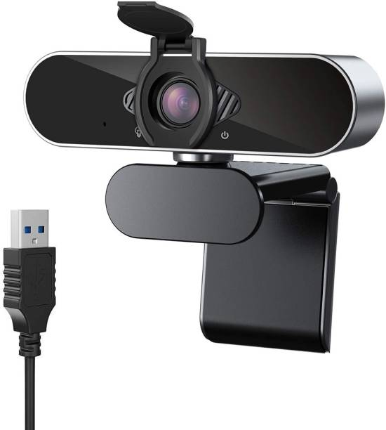 Case U HW1 1080P Webcam with Microphone and Privacy Cover, 360� Rotation Plug and Play USB 2.0/3.0 Computer Camera for Laptop or Desktop HD PC Web-Camera  Webcam