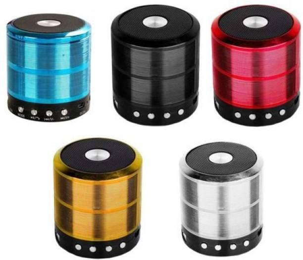 CXV CASES WS-887 Speaker in Built SD/Aux/FM/Pen-Drive Metal Body Speaker Loud Sound 10 W Bluetooth Speaker