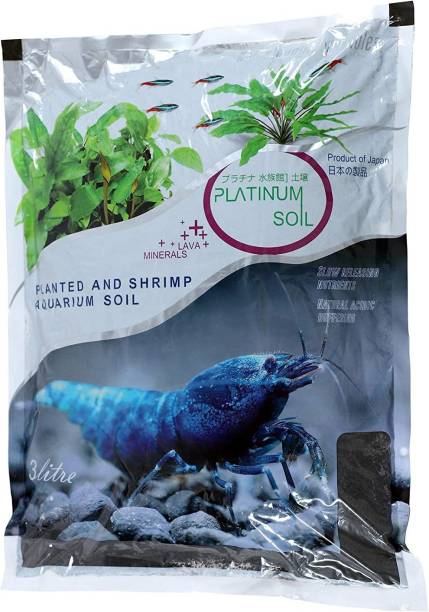 AQUATIC REMEDIES Platinum Aquarium Substrate Plant Soil (3L) Aqua Soil Planted Substrate