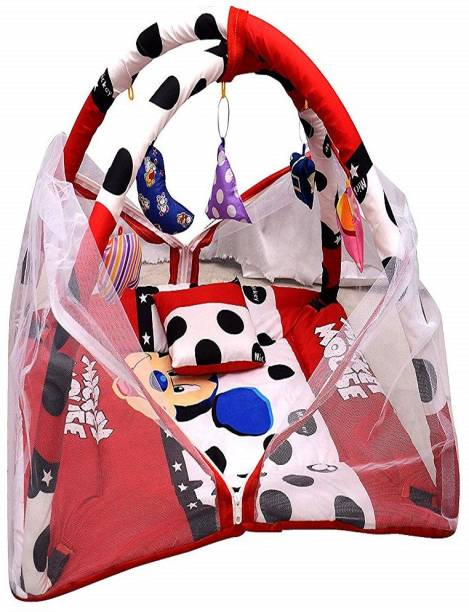 moms angel Baby Play Gym With Mosquito Net (Mickey Mouse)