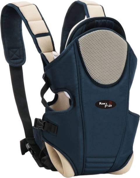 MOM'S PRIDE Adjustable Baby Carrier Bag (Navy-Cream, Front carry facing out) (RFR) Baby Carrier