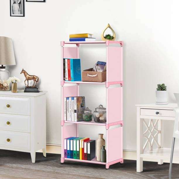 FURIONE 4 LAYER PINK BOOK SHELF Metal Open Book Shelf