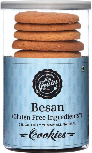 Hey Grain Besan Cookies Gluten Free (Organic Besan, Cardamom powder, Salt, Baking powder, Demerara sugar, Milk, Canola oil, Butter) Cookies
