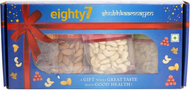 Eighty7 Classic Dry Fruits - Almonds, Cashews, Raisins and Cranberries Combo