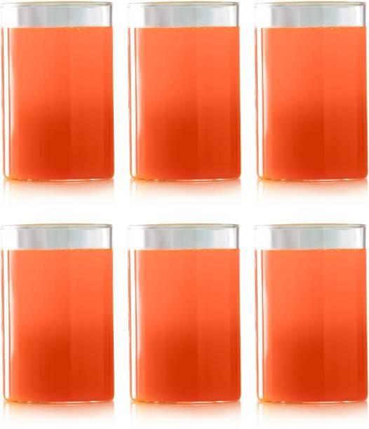 BOROSIL (Pack of 6) Vision Glass Medium - 295ml set of 6 Glass Set