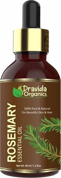 Dravida Organics Rosemary Essential Oil (Pure & Natural) For Beautiful Skin & Hair Growth Hair Oil