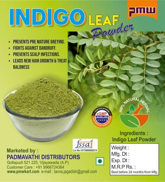 PMW Indigo Leaf Powder - Neeli Aaku Powder - Avuri Powder - 100 Grams - Neelayamari Powder
