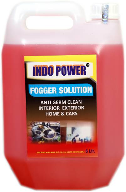INDOPOWER FOGGER SOLUTION Anti Germ Clean (Interior Exterior Home & Cars ) 5ltr. MULTI