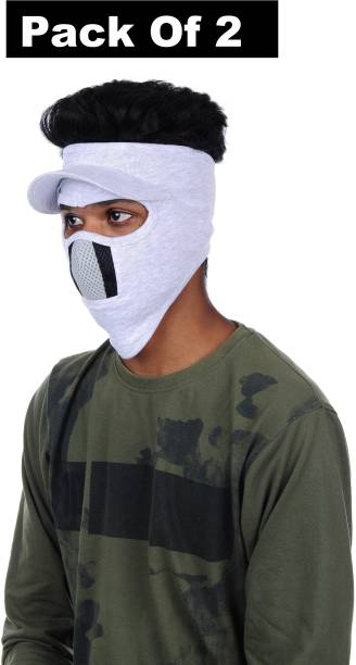 H-Store Grey Bike Face Mask for Men & Women