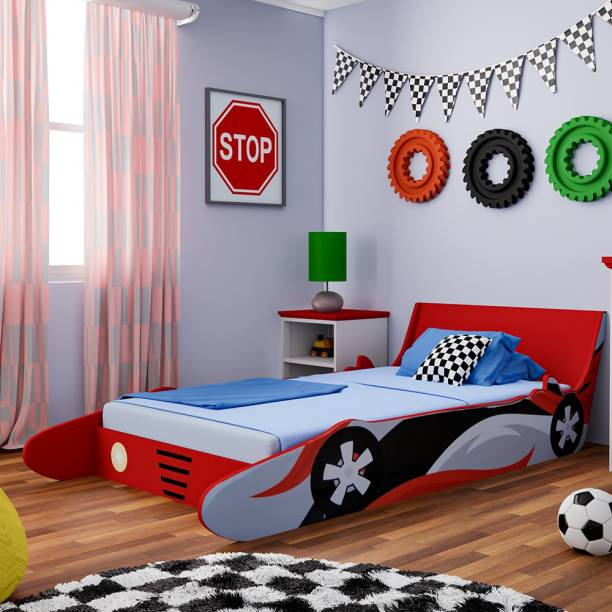 Flipkart Perfect Homes Junior Engineered Wood Single Bed