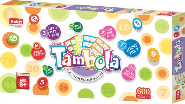 """Ankit TAMBOLA DELUXE 18"""" Party & Fun Games / Toys For Family/ Kids (Age 3+) Party & Fun Games Board Game"""