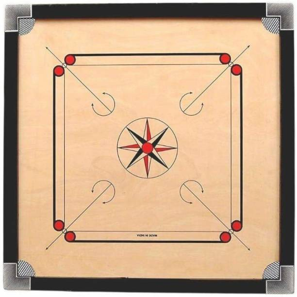 General Furniture Kart Full Size Carrom Board with Free Coins & Striker (Large, 32 Inches) Carrom Board Board Game