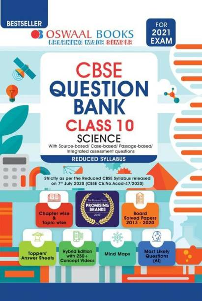 Oswaal Cbse Question Bank Class 10 Science (Reduced Syllabus) (for 2021 Exam)