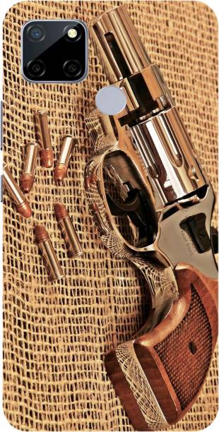 Vojica Back Cover for Realme C12 Printed Gun, Pistol, Bandook