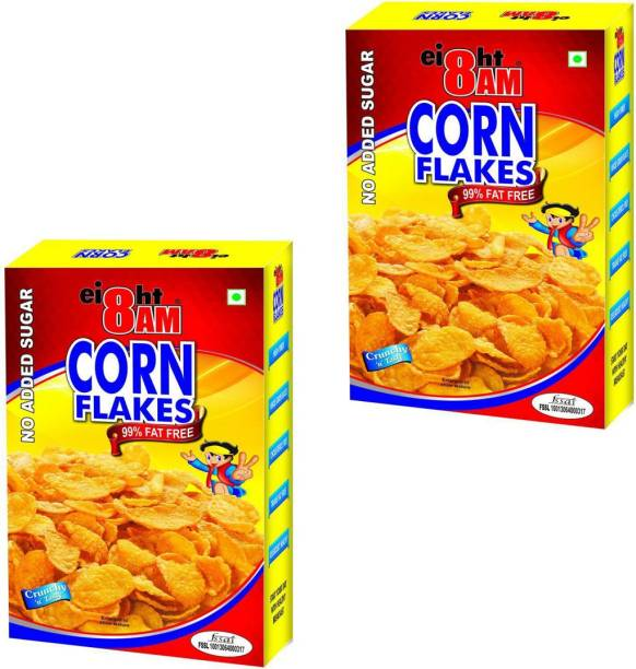 8AM by V. R. Industries (P) Ltd. Cornflakes No added sugar (Pack of 2)