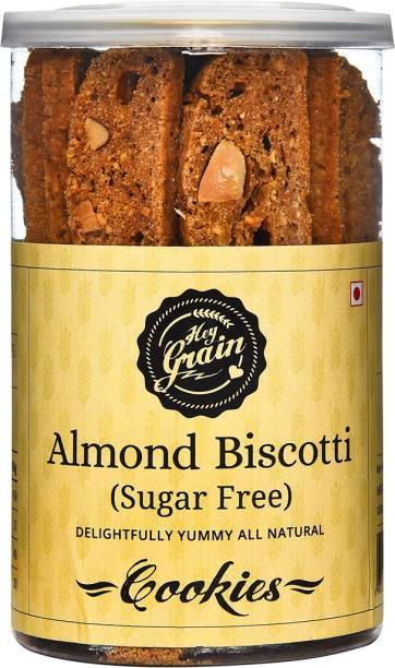 Hey Grain Almond Biscotti Sugar Free Cookies (Whole Grain Wheat Flour, Almonds Flour, Canola Oil, Salt,Stevia Leaves, Egg) Cookies