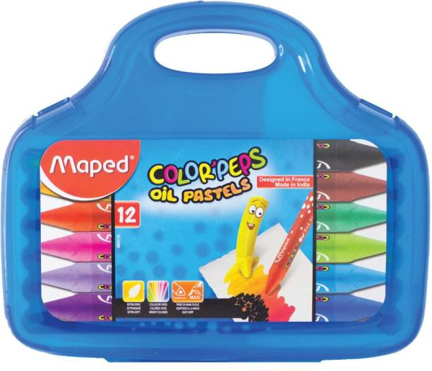 Maped Color'Peps Oil Pastels Plastic Box 12 Shades