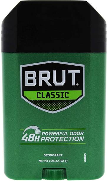 BRUT Deodorant Stick - Classic 48H Protection 63G for Men Deodorant Stick  -  For Men