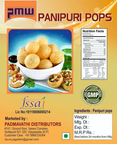 PMW Pani Puri Raw Easy To Fry Puris -1 Kg -300-400 Pieces 1 kg