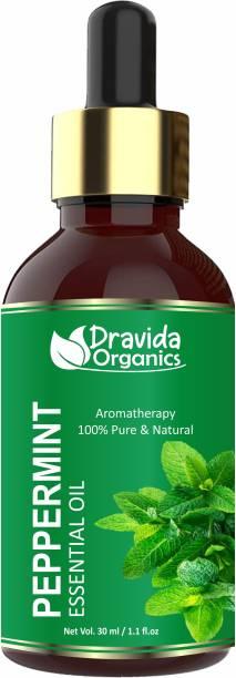 Dravida Organics Peppermint Essential Oil for Hair Growth Undiluted Hair Oil