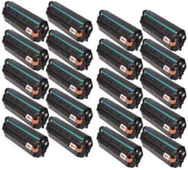 GLOBE TECHNOLOGY 12A / Q2612A Toner cartridge 20 psc For Use in HP LaserJet 1010/ 1010w/ 1012/ 1015/ 1018/ 1020/ 1022/ 1022n/ 1022nw/ M1005 MFP/ M1319f MFP/ 3015 AIO/ 3020/ 3030/ 3050/ 3050z/ 3052/ 3055 Single Color Black Ink Toner