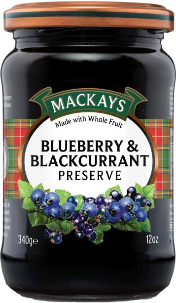 Mackays Blueberry and Blackcurrant Preserve (Pack of 2) 680 g