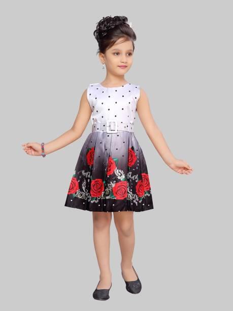 Aarika Baby Girls Midi/Knee Length Casual Dress