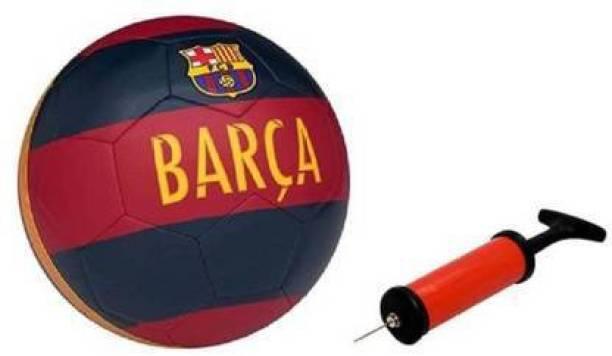 DIBACO SPORTS COMBO BARCA RED FOOTBALL WITH AIR PUMP Football Kit