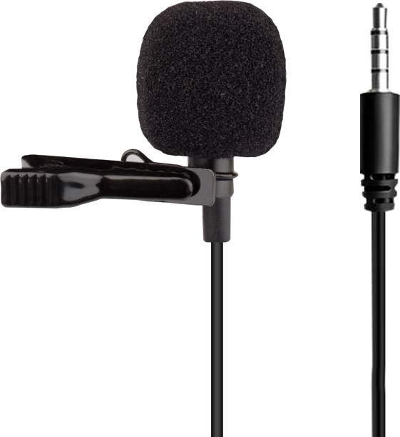 WRADER Lavalier Microphone 3.5mm Clip Microphone, Collar Mic for Voice Recording, Lapel Omnidirectional Mic with Easy Clip on System Perfect for Recording Youtube / Interview / Video Conference / Podcast / Voice Dictation / iPhone/ASMR Microphone