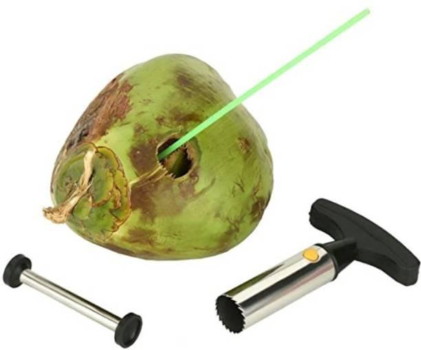 silkykraftz Tender Coconut Opener Driller Knife Tool Cleaning Stick Straight Peeler