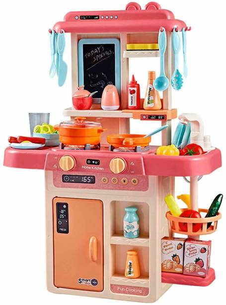 The SaGa Empire 42 pcs. Battery Oprated Kitchen Set for Kids, Pretend Play Kitchen Toy Set for Kids | Kitchen Set for Kids (Girl/Boy (Multi color)