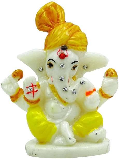 Shivansh Stores Lord Ganesha For Car Dashboard and Table Decorative Showpiece  -  9 cm