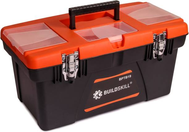 Buildskill BPTB19 Home Professional Heavy Duty High Quality With Metal Locks Tool Box with Tray