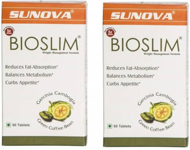 SANAT Sunova Bioslim ( Pack of 2 - 120 Tablets) | Weight Management Formula