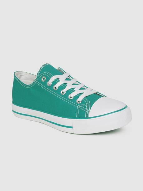 MAST & HARBOUR Women Teal Blue Solid Sneakers Sneakers For Women