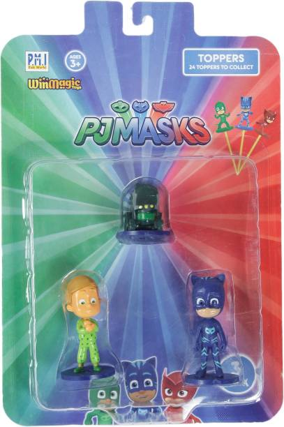 Pj Masks Pencil Toppers Blister 3 (S1) - Romeo'S Lab, Greg, Catboy